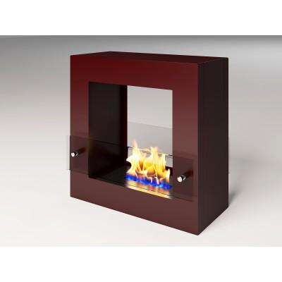 Биокамин Cube Glass burgundy