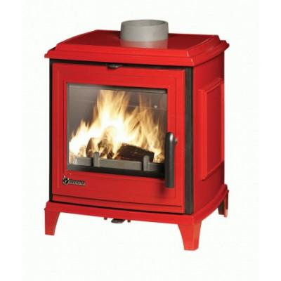 Печь-камин SEDAN S красная эмаль