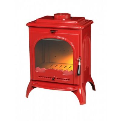 Печь-камин SEVILLE эмаль красный (NEW)