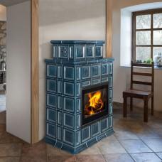 Печь-камин Romotop BARACCA OU керамика с теплообменником