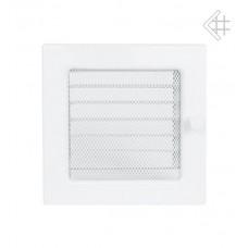 Решетка вентиляционная (17*17 мм) белая с жалюзи