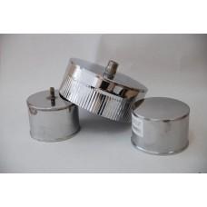 Заглушки (глухая, с ручкой, с конденсатоотводом), ф120 нерж. 0,5