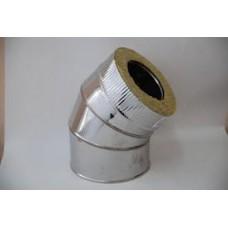 Сэндвич-отвод 135*, ф115/200 нерж/оц. 0,5/0,5мм