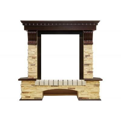 Портал Pierre Luxe угловой - Темный дуб / Сланец (Высота 1050мм)